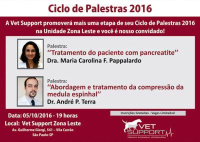 Ciclo de palestras Vet Support 2016