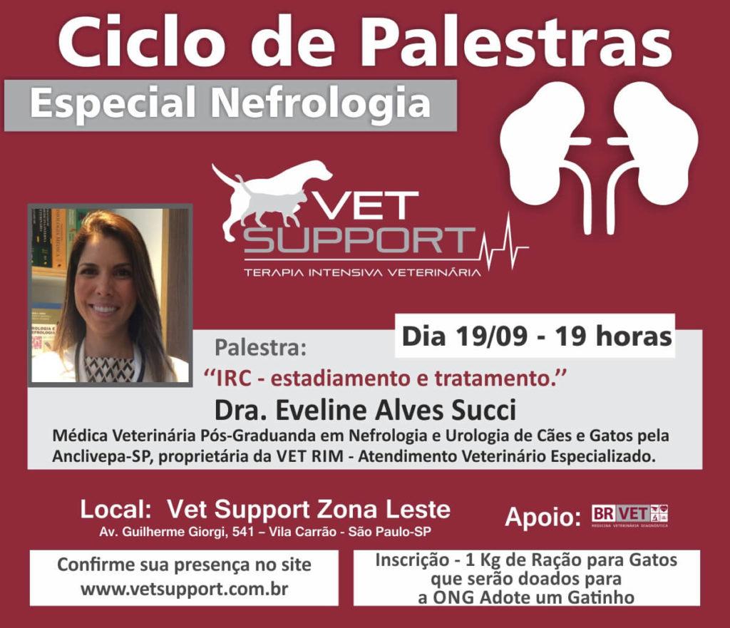 Ciclo de Palestras Vet Support 2017 Nefrologia Veterinária sobre Nefrologia Veterinária - PALESTRA 2